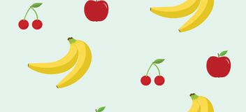 Porte des fruits le fond sans couture de modèle Illustration de vecteur illustration stock