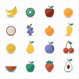 Porte des fruits le graphisme Photo libre de droits
