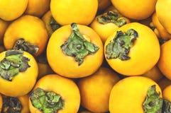 Porte des fruits le kaki orange Photographie stock