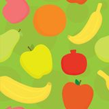 Porte des fruits le modèle sans couture de vecteur Images stock