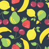 Porte des fruits le modèle sans couture de vecteur Cru inspiré illustration libre de droits