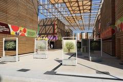 Porte des fruits le pavillon l'expo 2015 de Milan, Milan d'épices de légumineuses Image libre de droits