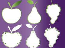 Porte des fruits les plaques de livre, trames de fruits Images libres de droits