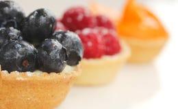 Porte des fruits les tartes Photo stock