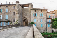 Porte des Recollets the access to the town largentiere Stock Images