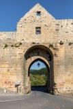 Porte des Tours, η μεσαιωνική πύλη πόλεων σε Domme, Dordogne, Aquitaine, Γαλλία στοκ εικόνες με δικαίωμα ελεύθερης χρήσης