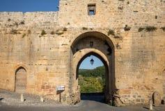 Porte des Tours, η μεσαιωνική πύλη πόλεων, Domme, Dordogne, Aquitaine, Γαλλία στοκ φωτογραφία με δικαίωμα ελεύθερης χρήσης