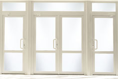 Porte di entrata di plastica con vetro Immagine Stock Libera da Diritti