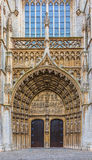 Porte di entrata principale della cattedrale di Antwerpen Fotografie Stock Libere da Diritti