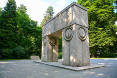 Porte du baiser, Targu Jiu Photo libre de droits