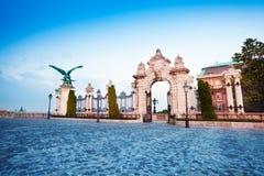 Porte du Habsbourg à Budapest, Hongrie Image libre de droits