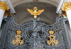 Porte du musée d'ermitage d'état Images stock