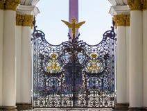 Porte du musée d'ermitage d'état Photographie stock libre de droits