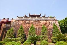 Porte du nord (1805) de citadelle impériale à Hanoï, Vietnam photographie stock libre de droits