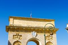 Porte du Peyrou 1693, строб города в Монпелье, Франции стоковые изображения rf