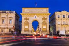 Porte du Peyrou in Montpellier Stock Image