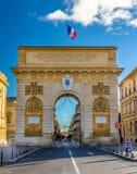 Porte du Peyrou, a triumphal arch in Montpellier Stock Image