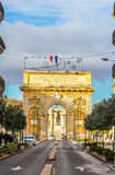 Porte du Peyrou, a triumphal arch in Montpellier Royalty Free Stock Images