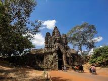 Porte du sud d'Angkor Thom Image libre de droits