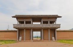 Porte du sud externe de château de Shiwa, ville de Morioka, Japon Photographie stock