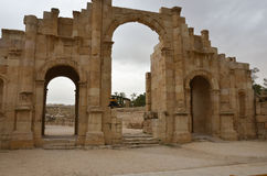 Porte du sud, Jerash Photo stock