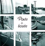Porte e barche Immagini Stock