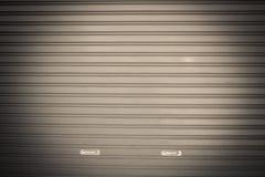 Porte en acier de glissière Photographie stock