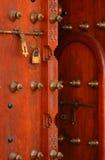 Porte en bois antique Photo libre de droits