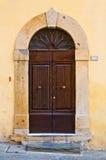 Porte en bois antique du bâtiment historique Image libre de droits