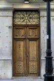 Porte en bois, architecture traditionnelle du centre de l'Espagnol Photo libre de droits