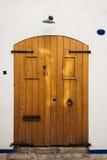 Porte en bois démodée Image libre de droits