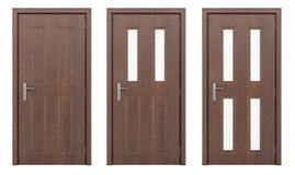 Porte en bois d'isolement sur le blanc Image stock