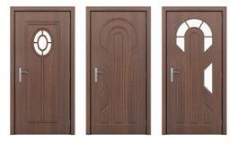 Porte en bois d'isolement sur le blanc Photos libres de droits