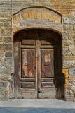 Porte en bois de vintage Photographie stock libre de droits