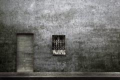 Porte en bois et fenêtre de vintage typique Images stock