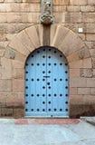 Porte en bois, Moyens Âges, Espagne image stock