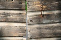 Porte en bois solide Photo libre de droits