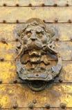 Porte en bronze dorée, mosquée de cathédrale de Cordoue, Espagne Photographie stock