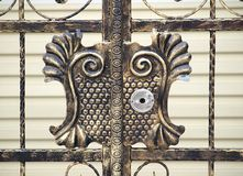 Porte en bronze raffinée photos libres de droits