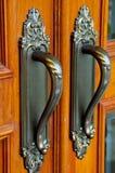 Porte en laiton Photographie stock libre de droits