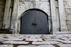 Porte en métal à l'île Boston de château Photos libres de droits