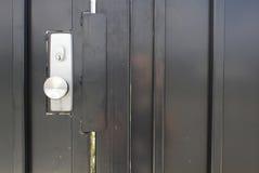 Porte en métal Photographie stock