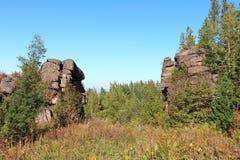 Porte en pierre Photo stock