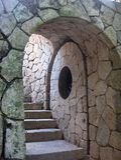 Porte en pierre arquée Photographie stock