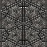 Porte en pierre avec les décorations étendues Photographie stock