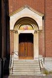 porte en trottoir fermé de brique d'ange de l'Italie Image stock