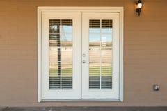 Porte en verre extérieure Photo stock