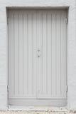 Porte esteriori dipinte doppio bianco di legno Fotografie Stock