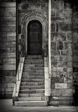 Porte et étapes de cathédrale Photographie stock