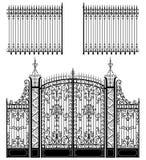 Porte et frontière de sécurité Image stock